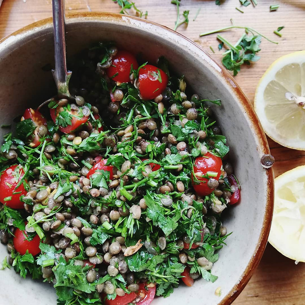Lentil Tabbouleh with Parsley & Dill