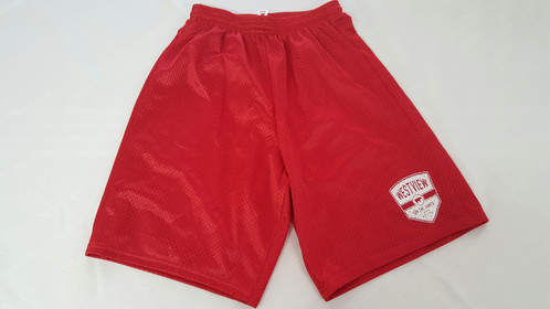 Red Athletic Shorts | westviewonthejames
