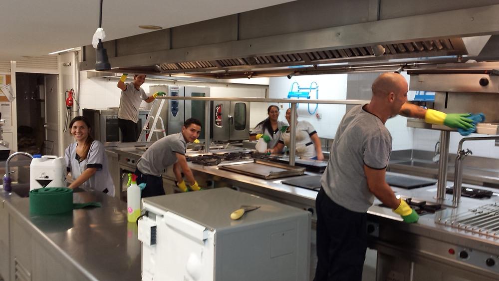 Limpieza de restaurantes en Málaga