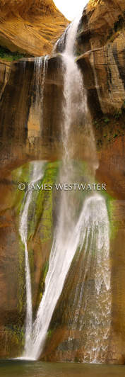 Calf Creek Falls, Vertical Panorama, Utah
