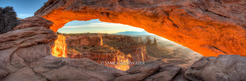 Afterglow, Mesa Arch, Canyonlands National Park, Utah