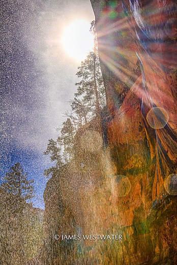 Under the Waterfall, Zion National Park, Utah