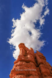 Hoodoo and Cloud, Red Canyon, Utah