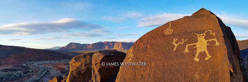 Petroglyphs, Santa Clara River Reserve, Utah