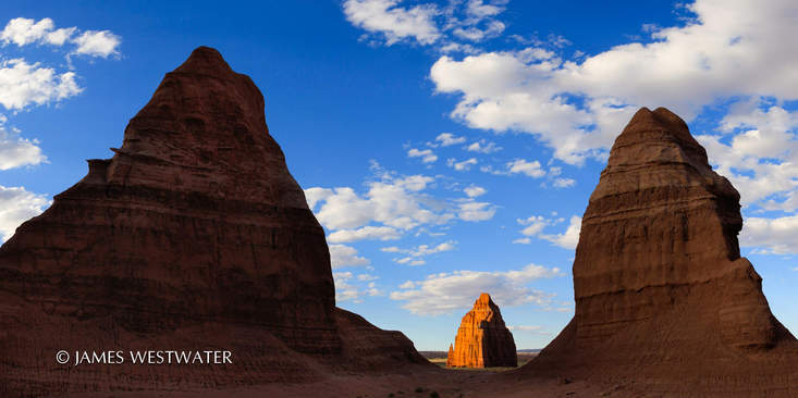 Sillouettes, Cathedral Valley, Capitol Reef National Park, Utah