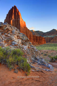 Last Light, Cathedral Valley, Capitol Reef National Park, Utah