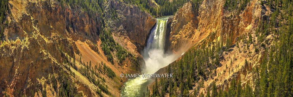 Lower Yellowstone Falls, Panorama, Yellowstone National Park, Wyoming