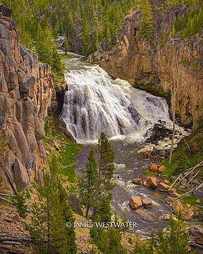 Gibson Falls, Yellowstone National Park, Wyoming