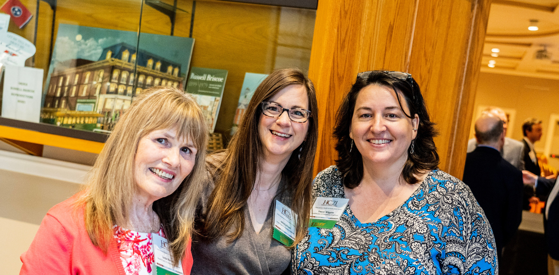 Linda Burnette, Ashley Johnson, and Tracey Wiggins