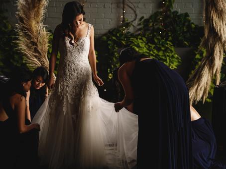 Nina + Daniel's Fall Textures Wedding at 501 Union