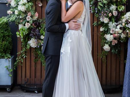 Erica + Michael's Rooftop Garden Wedding @Box House