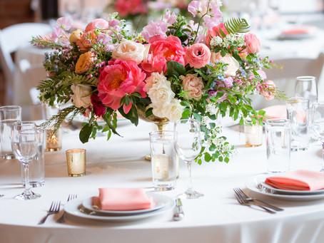 Amanda + Amal's Coral and Blue Spring Wedding at Dumbo Loft