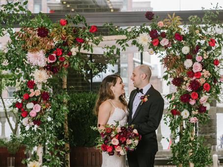 Ariella + Evan's Deep and Moody Fall Wedding