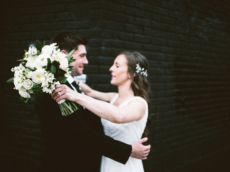 Caroline + Joe's White and Green Wythe Wedding