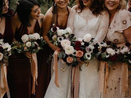 Michelle + Jonathan's Deep and Moody Autumnal Wedding @The Deity