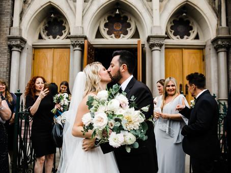 Catherine + Michael's Soft Pastel Wedding @Sound River Studio