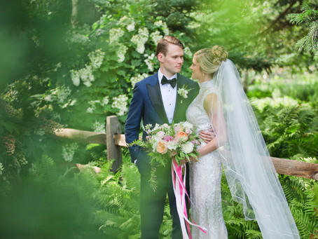 Brittania + Woody's Peach and White Botanic Garden Wedding
