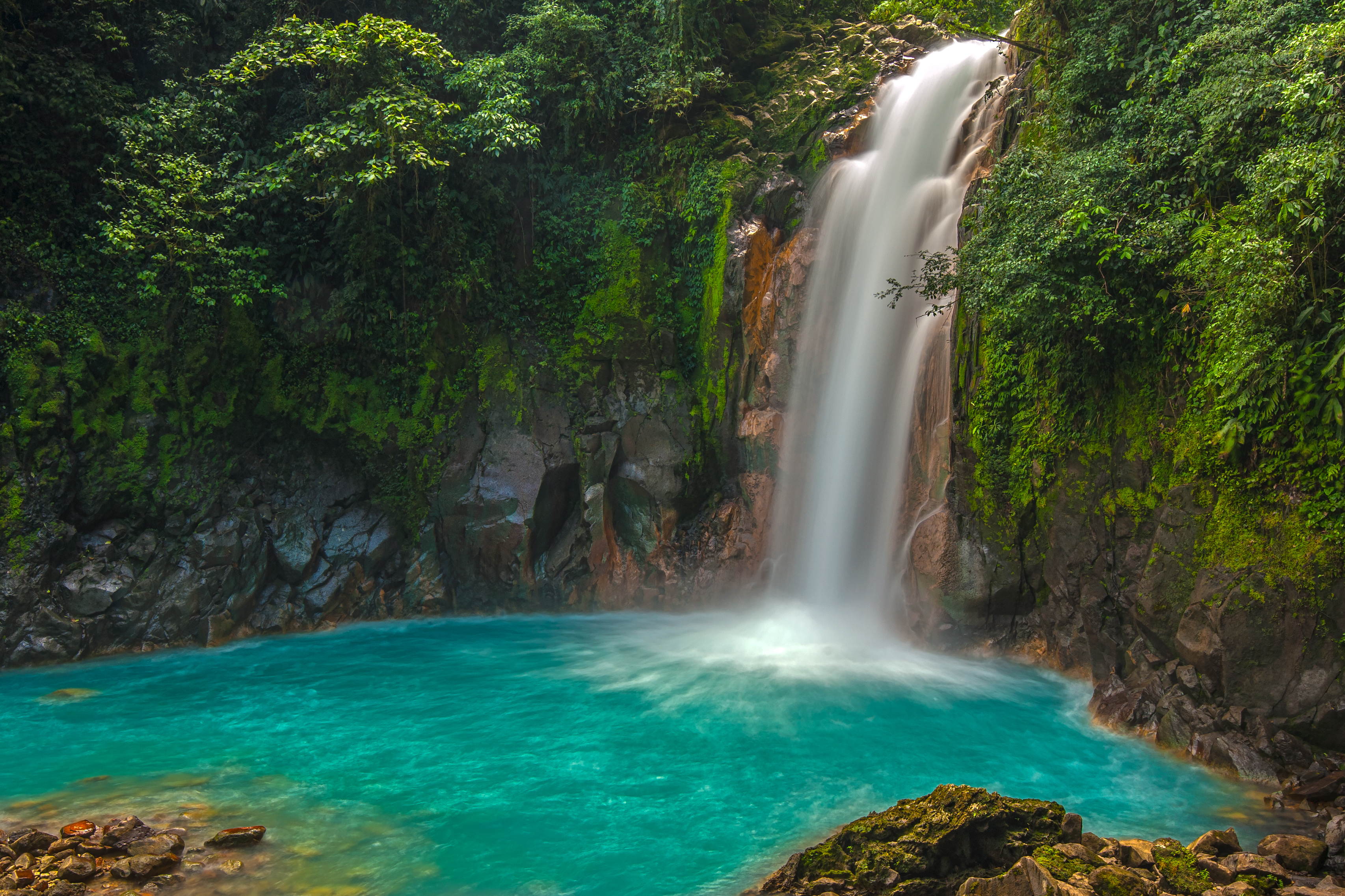Rio Celeste Waterfall photographed in Co
