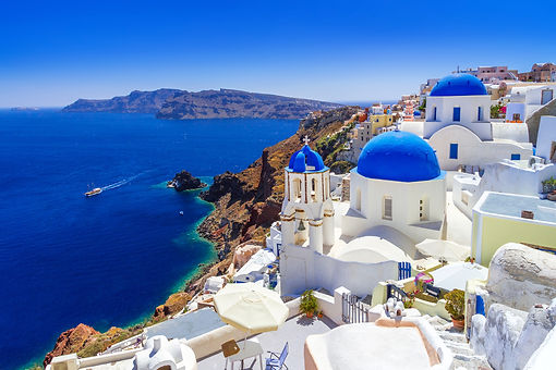 Beautiful Oia town on Santorini island,