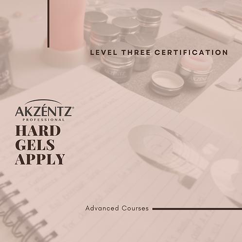 Akzentz Level 3 Certification | Hard Gel Apply