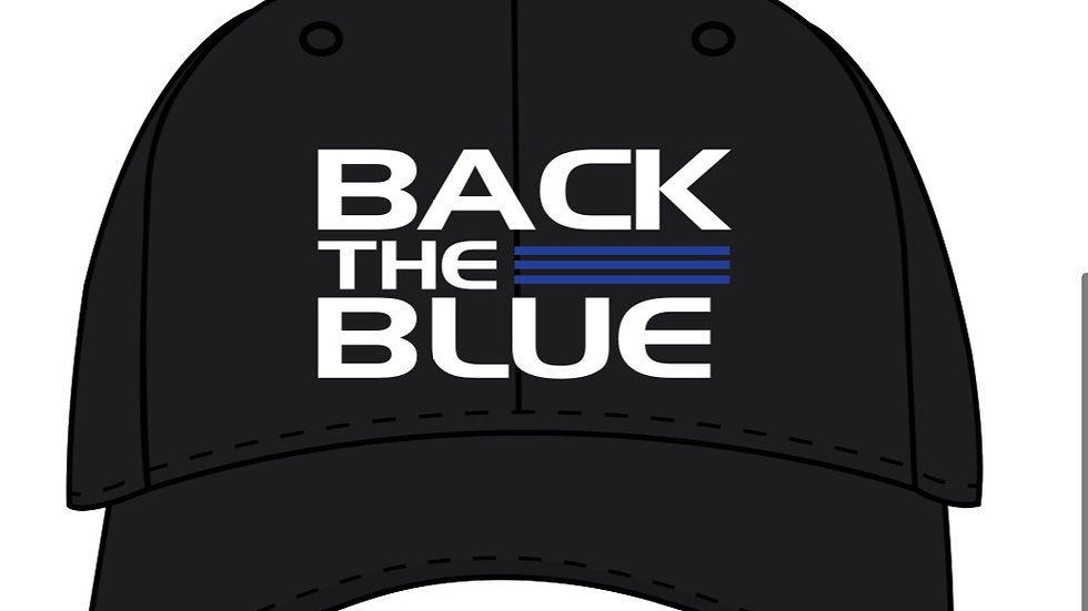Back the blue trucker hat