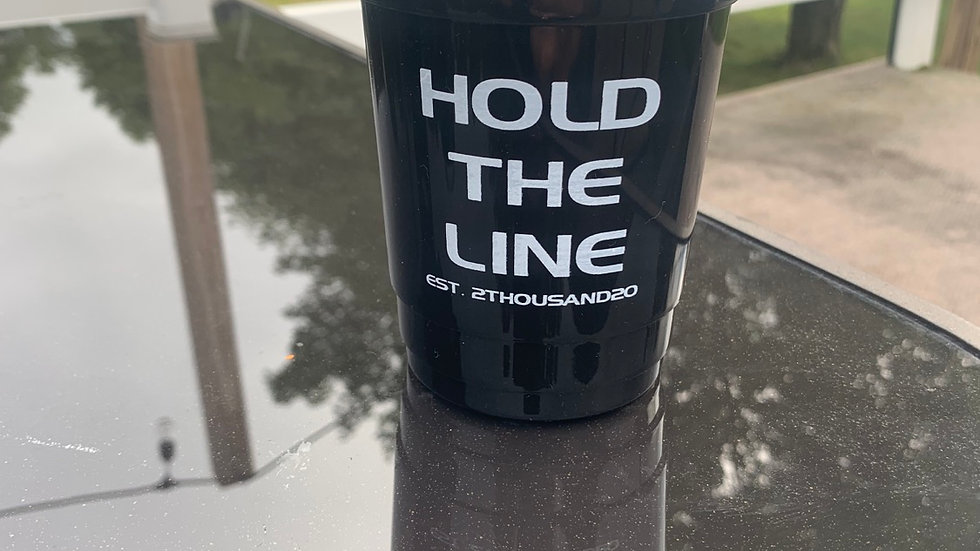 Hold The Line reusable party cup