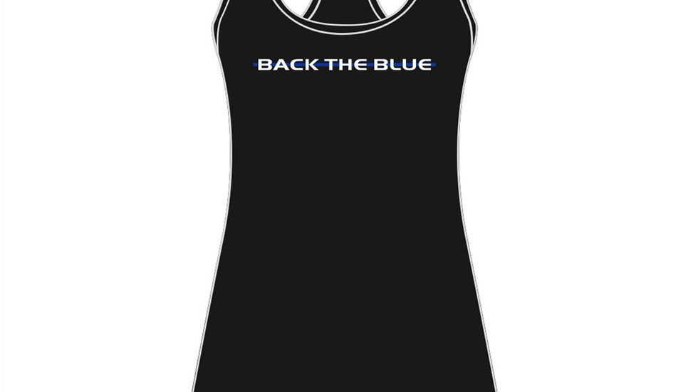 BACK THE BLUE Womens Tank Top