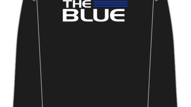 BACK THE BLUE crewneck sweatshirt
