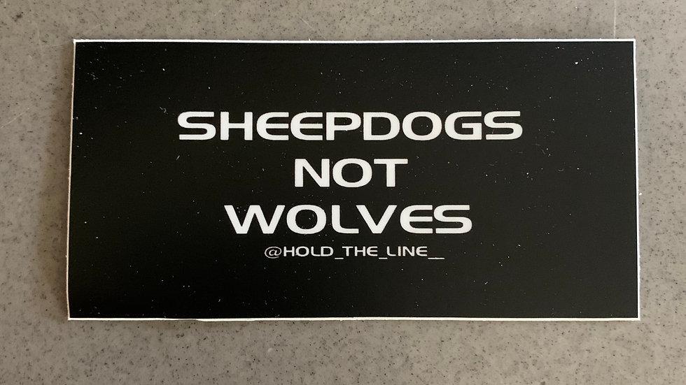 Sheepdogs Not Wolves sticker