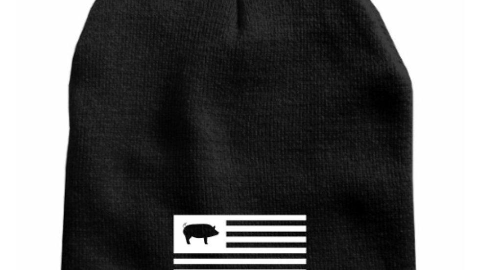 Pig flag knit cap