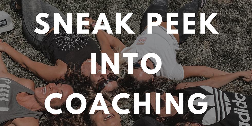 Sneak Peek into Coaching