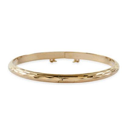 Diamond-cut Bangle Bracelet 7.25 Inch 8.4g