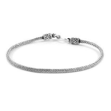 Sterling Silver Tulang Naga Bracelet (8.00 In) (8.26 g)