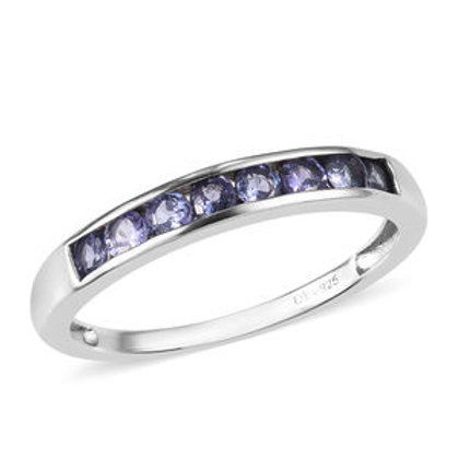 0.75 ctw Tanzanite Channel Band Ring Size 5