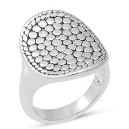 Pebble Ring in Sterling Silver 5.04 Grams