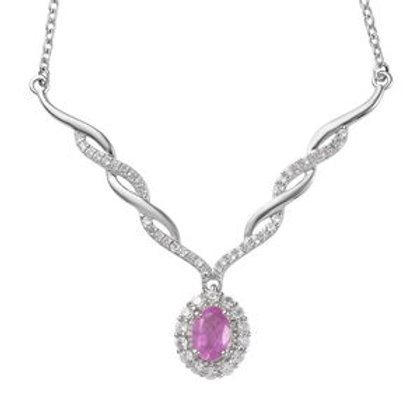 Hot Pink Sapphire, Natural White Zircon 1.96 CTW