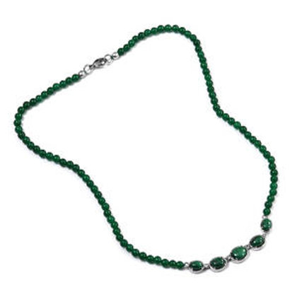 49 ctw African Malachite and Green Quartzite Necklace 18 Inch
