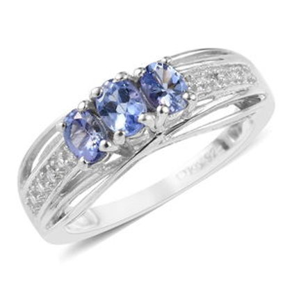 0.55 ctw Tanzanite and Diamond Accent Ring Size 6