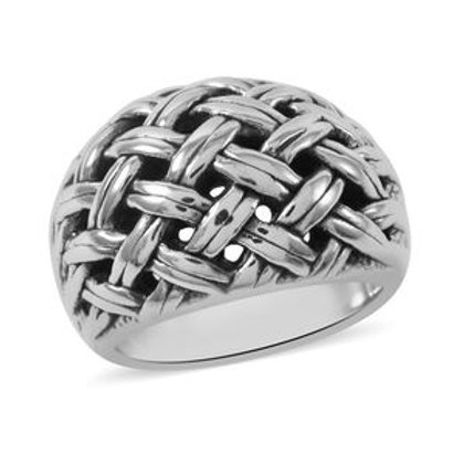 Weaved Ring in Sterling Silver 5.97 Grams