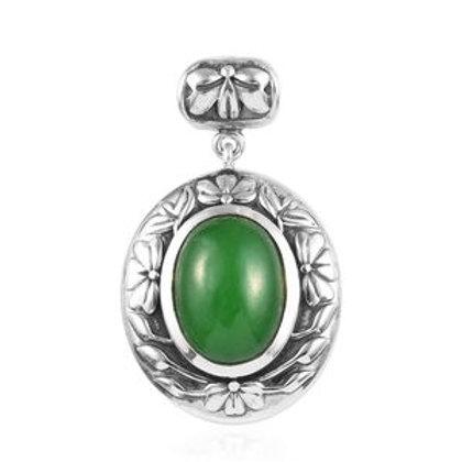 Burmese Green Jade Pendant.  11 CTW!