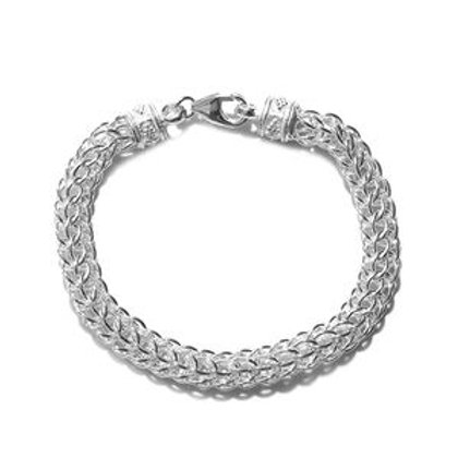 Foxtail Link Bracelet in Sterling Silver 19.59 Grams (7.25 In)
