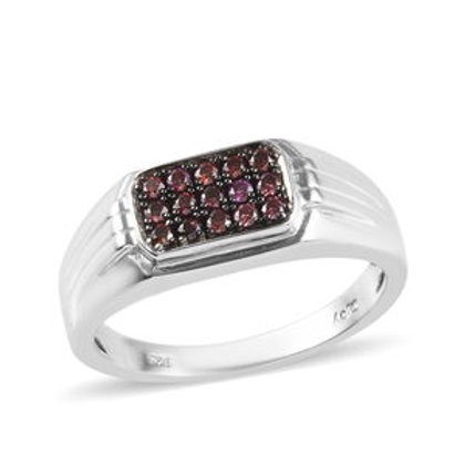 Purple Diamond Men's Ring.  0.35 CTW