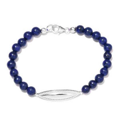Lapis Lazuli Bracelet in Sterling Silver (7.25 In) 36.30 CTW
