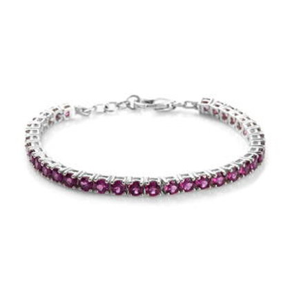 8.05 ctw Purple Garnet Tennis Bracelet (6.50 in)