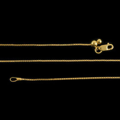 Bolo Box Chain 24 Inch in 14K YG Over Sterling Silver 2.8 Grams