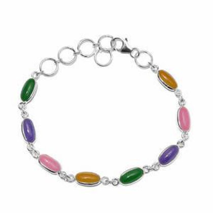 Artisan Crafted Burmese Multi Color Jade Bracelet.  11.23 CTW