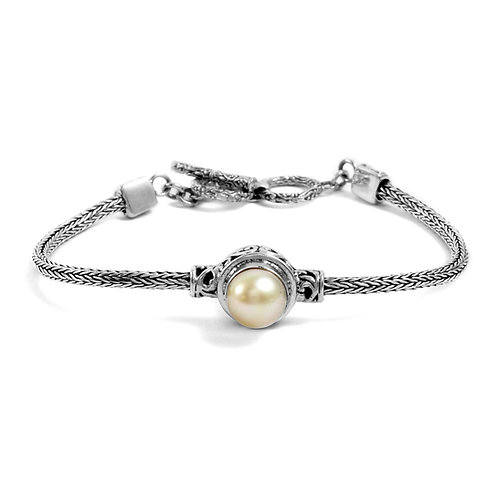 Bali Legacy South Sea Pearl 9-10 mm Toggle Clasp Bracelet 7.50 Inch