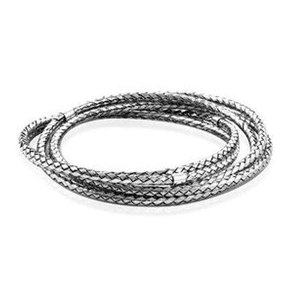 Multi Bangle Chevron Bracelet in Sterling Silver 7.25 Inch 53.56 Grams