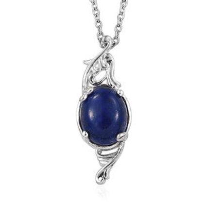 Lapis Lazuli Magnetic Clasp Pendant Necklace (20 in)