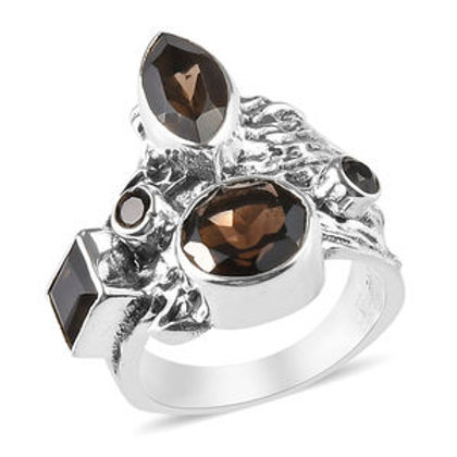 Artisan Crafted 3.66 CTW Brazilian Smoky Quartz Ring Size 7